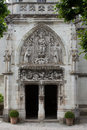 Amboise detail of late gothic carving on the chapel of saint hubert where leonardo da vinci is buried Stock Images