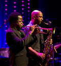 Ambrose akinmusire quintet performs live on th april jazz espoo finland he won downbeat critics poll for best trumpet Royalty Free Stock Photography