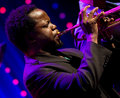 Ambrose akinmusire quintet performs live on th april jazz espoo finland he won downbeat critics poll for best trumpet Stock Photography
