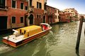 Ambulance boat serving along the canals of venice Stock Images