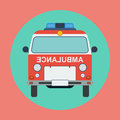 Ambulance car flat vector illustration Royalty Free Stock Photos