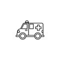 Ambulance car line icon, healtcare sign