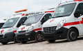 Ambulance cars. Royalty Free Stock Photo