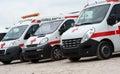 Ambulance cars. Royalty Free Stock Photo