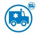 Ambulance emergency car icon. Royalty Free Stock Photo