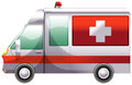 An ambulance illustration of on a white background Stock Image
