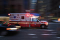 Ambulance run in new york streets Royalty Free Stock Photo