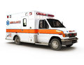 Ambulance on white background Stock Photo