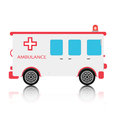 Ambulance with a white background Royalty Free Stock Photos