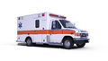 Ambulance white Royalty Free Stock Photo