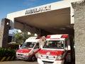 Ambulances on standby Royalty Free Stock Photo