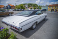 Amcar classic chevrolet impala ss photo is shot at the fish market in halden norway Stock Photography