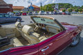 Amcar pontiac lemans sport convertible in cbin restored classic american car the photo is shot at the fish market halden norway Stock Image