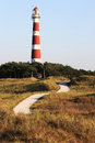 Ameland Lighthouse Bornrif near Hollum, Netherlands Royalty Free Stock Photo