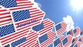 America first concept flying flag arrows