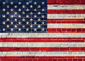 America flag on a brick wall Royalty Free Stock Photo