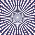America Flag color sunburst vector background Royalty Free Stock Photo