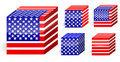 America flag cube Stock Photos