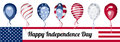 America independence day vector banner