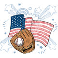 America loves baseball vector Royalty Free Stock Image