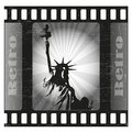 America retro on old film Royalty Free Stock Photography