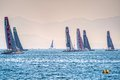 America s cup world series catamarans in gulf of naples Royalty Free Stock Photos