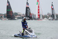 America's Cup World Series Venice - Policeman Royalty Free Stock Photo