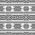American aztec vector seamless texture. Native tribal indian repetitive pattern Royalty Free Stock Photo
