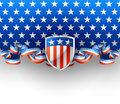 American background illustration of with shield Royalty Free Stock Images
