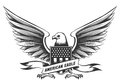 American bald eagle emblem Royalty Free Stock Photo