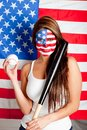 American baseball fan Royalty Free Stock Photo