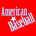 American Baseball Lettering Greetings card Vector Royalty Free Stock Image