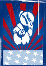American baseball vintage poster on an abstract background Stock Image