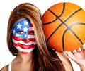American basketball fan Royalty Free Stock Photos