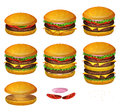 American Burgers All Size