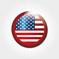American button over white background vector illustration Royalty Free Stock Photos