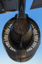 American C-17 Globemaster jet engine Stock Photography