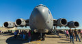 American C-17 Globemaster jet transport airplane Royalty Free Stock Photo