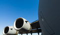 American C-17 Globemaster jet transport airplane Stock Photos