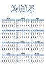 American calendar for in vector grid vertical Stock Photography