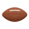 American or Canadian football vector icon. Sport leather ball eq