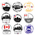 American capitals stamps Stock Images