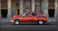 American car in cuba an cruises the street of la habana Stock Images