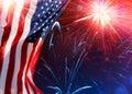 American Celebration - Usa Flag Royalty Free Stock Photo