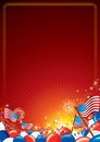 American celebration vector background independence day template illustration Stock Photography