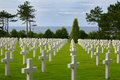 American cemetery in Normandy Stock Photography