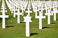American Cemetery in Normandy. Royalty Free Stock Images