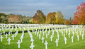 American cemetry cambridge cemetery at madingley cambridgeshire Royalty Free Stock Images