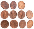 American cents Royalty Free Stock Photo