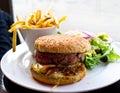 American cheese burger Royalty Free Stock Photos